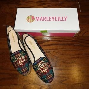 Marley Lilly carmel plaid loafers monogram TGR